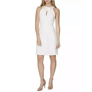 Laundry by Shelli Segal Beaded Neck Cocktail Dress